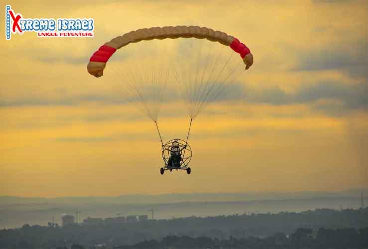 powered parachut - exsteme israel