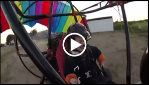 Flying powered parachute over Israel
