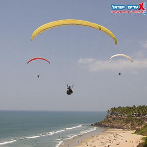 paragliding at Netanya